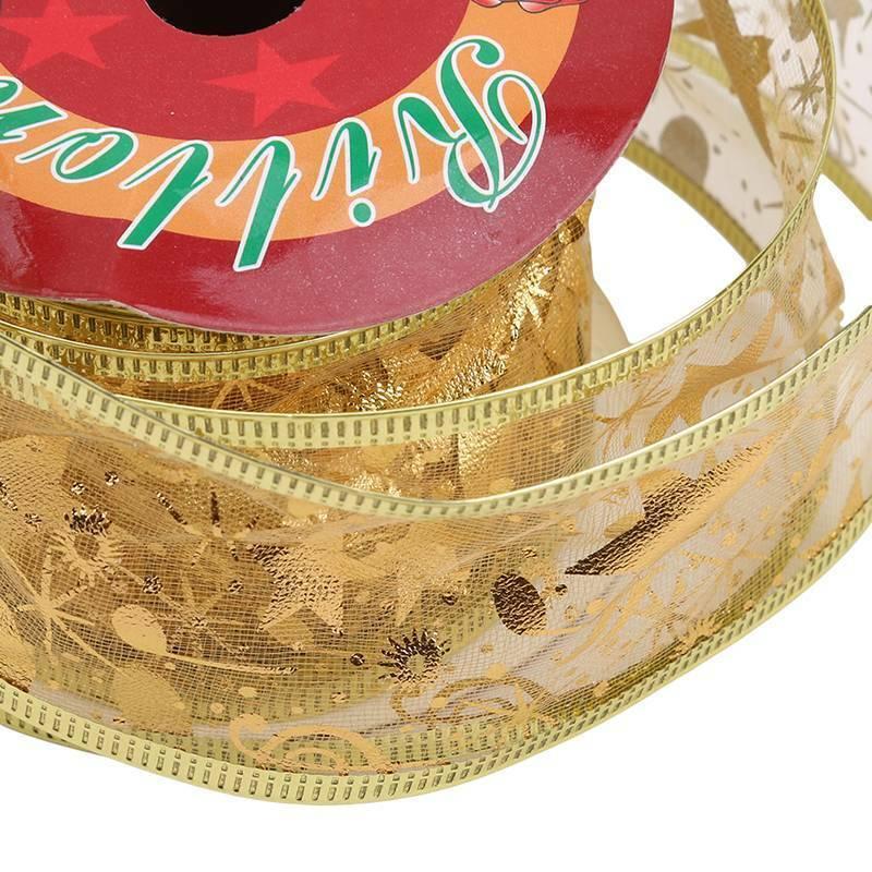 Christmas Organza Ribbon Sparkly Gift Wrap Tying Wreath Tree Decoration J 10