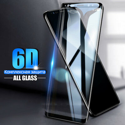 6D Samsung Galaxy S9+ S8 Plus Note 8/9 Tempered Glass Full Glue Screen Protector 5
