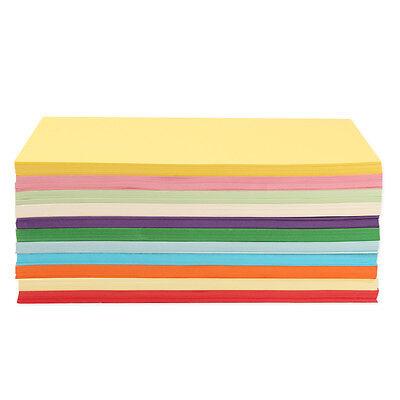 100 X 180gsm A4 Coloured Card Cardboard Craft Paper Making Cardstock Premium