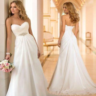 buy online 7e600 f998b BRAUTKLEID STANDESAMT HOCHZEITSKLEID A-Linie 32 - 48 Braut Kleid Chiffon  BC497