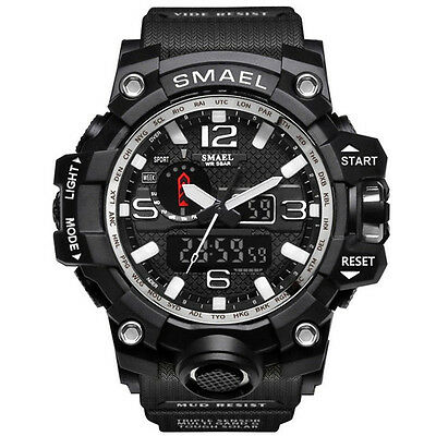 REGNO Unito Da Uomo smael Tactical Dual Display SHOCK Digital Sports Divers 4