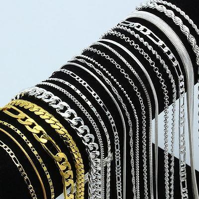 5/10/20Pcs 925 Silver Chain Necklace Women Men Lot Jewelry 16-30inch 4