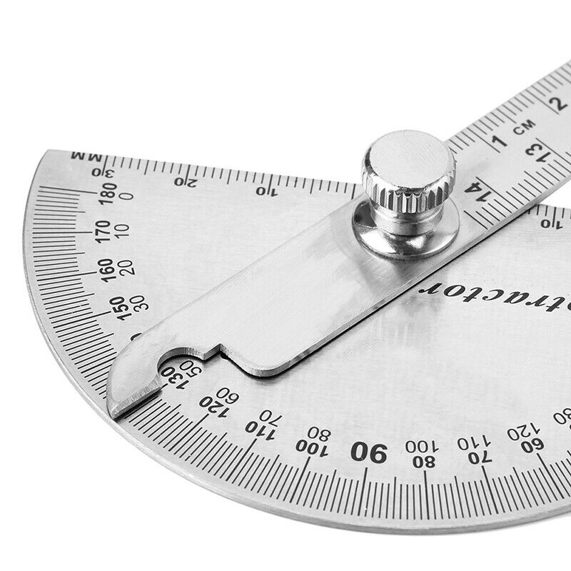 15cm 180 Degree Adjustable Protractor multifunction stainless steel angle rulerF 6