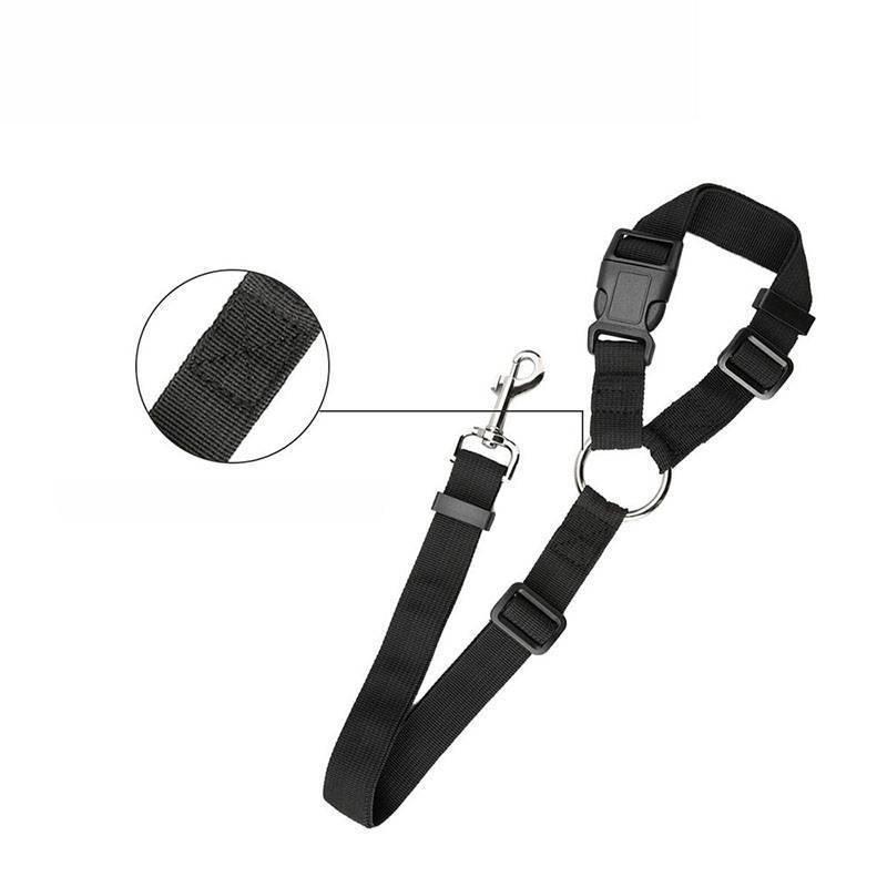Adjustable Pet Seat Belt Dog Harness Pet Car Seat Belt Pet Safety Leash Leads 5