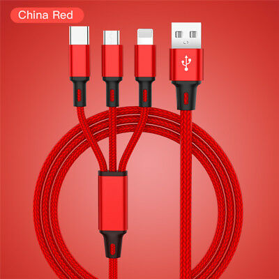Universal 3 in1 USB Multi Fast Ladekabel Kabel Für Samsung Galaxy S8 S9 S8 S9+ 10