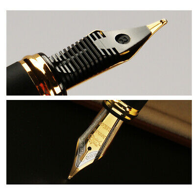 Jinhao X450 Black with Fireworks Fountain Pen 0.7mm Broad Nib 18KGP Golden Trim 6