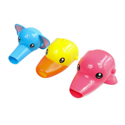 Animals Faucet Extender Kids Happy Fun Tubs Baby Hand Washing Bathroom Sink New 10