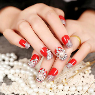 3D Nail Art Rhinestones Glitters Beads Acrylic Tips Decoration Manicure Wheels 5