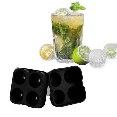 Schwarz Whiskey Cocktail Eiswürfel Kugel  4 Loch Ice Kugel Rund Eis Form
