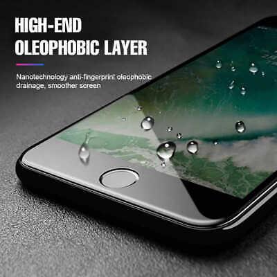 10D Complet Housse Protection Écran en Verre Trempé pour Iphone 7 8 X XR XS Max 6