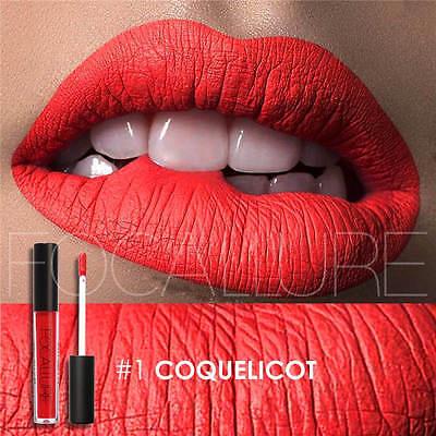 FOCALLURE 25 Colors Long Lasting Waterproof Matte Lipstick Liquid Gloss Cosmetic 11