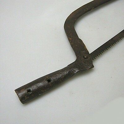 Antike Stielsäge Säge Stielwerkzeug Eisen unrestauriert ca.50 cm 4