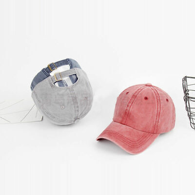 Men Plain Washed Cap Style Cotton Adjustable Baseball Cap Blank Solid Hat Casual 5