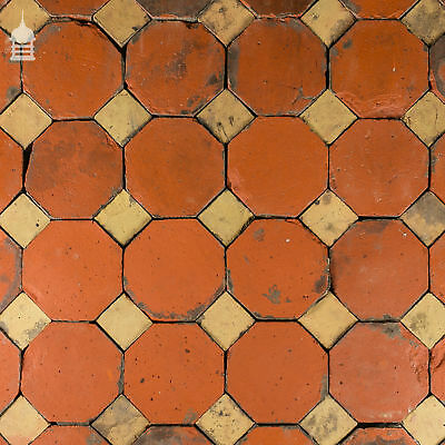 Stunning 18th C Octagonal and Square Church Floor Tiles – 7 SqMs 2