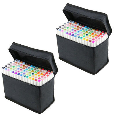 12-168 Colors Artist Dual Head Sketch Markers Set For School Drawing Sets