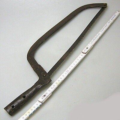 Antike Stielsäge Säge Stielwerkzeug Eisen unrestauriert ca.50 cm 5