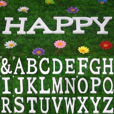 8X1.2cm thick Wooden Letter Name Alphabet Word Free Standing Wedding Party Decor 2