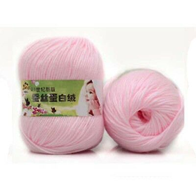 Lot Chunky Yarn Knitting wool Silk Protein cashmere Crochet baby soft cotton 50g 9