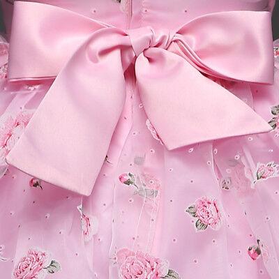 US Kids Girls Flower Birthday Wedding Bridesmaid Pageant Graduation Dress K42