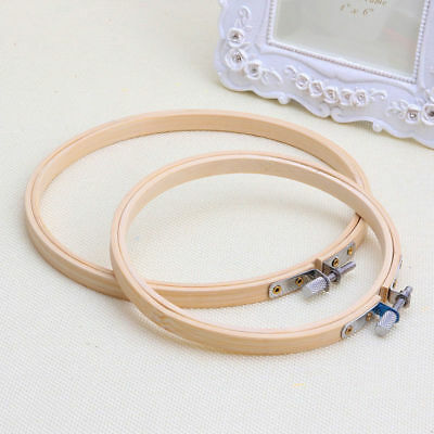 1Pcs Wooden Cross Stitch Machine Embroidery Hoop Ring Bamboo Sewing 13-30cm 8