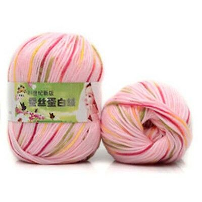 Lot Chunky Yarn Knitting wool Silk Protein cashmere Crochet baby soft cotton 50g 11