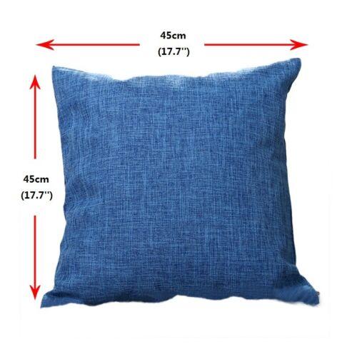 vintage coton lin taie oreiller divan taile jet de lit coussin solide housse eur 3 62. Black Bedroom Furniture Sets. Home Design Ideas