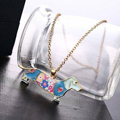 Fashion Paint Animal Dragon Butterfly Dog Cat Pendant Necklace Women Jewelry New 3