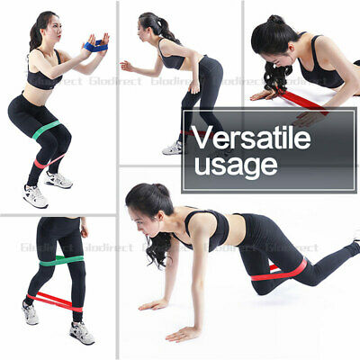 6PCS Resistance Bands Power Heavy Strength Exercise Fitness Gym Crossfit Yoga AU 7