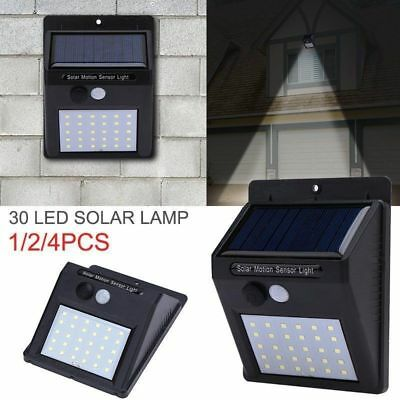 30 LED Solar Powered PIR Motion Sensor Wall Security Light Garden Outdoor Lamp 4