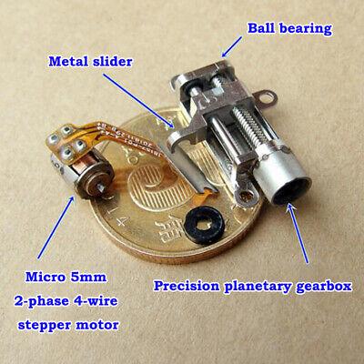 Micro 5MM Precision Mini Gearbox Gear Stepper Motor Linear Screw Rod Slider Nut 4