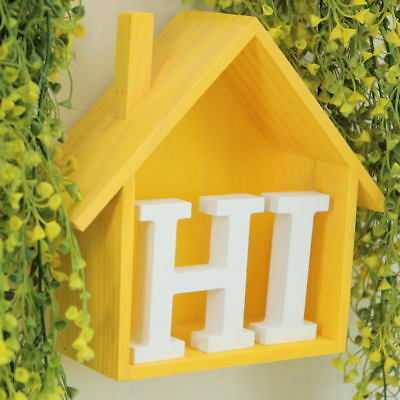26 English Letters Wood Sticker Home Decor 3D Wall Stickers DIY Art Decorative 6