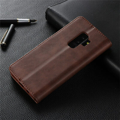 For Samsung Galaxy S10 S9 S8 Plus A8 A7 Magnetic Flip Leather Wallet Case Cover 4