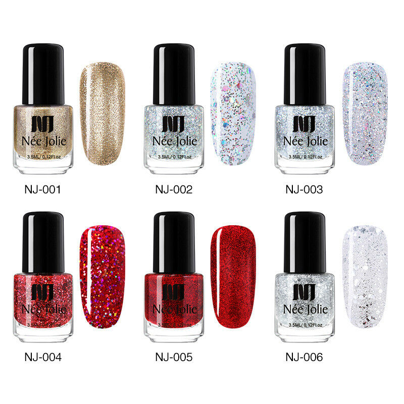 NEE JOLIE Pop Pure 50 Colors Nail Polish Christmas Winter Manicure Varnish DIY