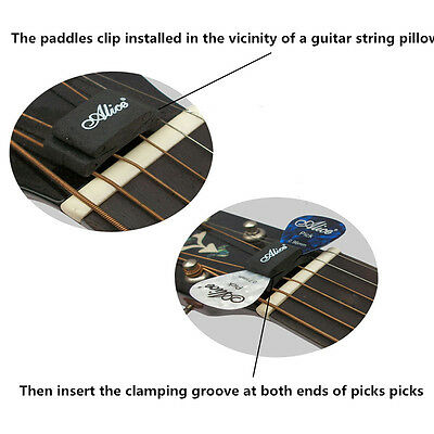New Classic Guitar Head Stock Pick Holder Rubber With 4 Free Picks Guitar Pick t 4