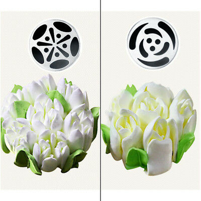 7Pcs Russian Tulip Flower Cake Icing Piping Nozzles Decorating Tips Baking Tools 7