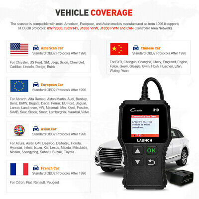 LAUNCH Car Fault Code Reader Engine Diagnostic Scanner Reset Tool OBD2 CAN EOBD 8