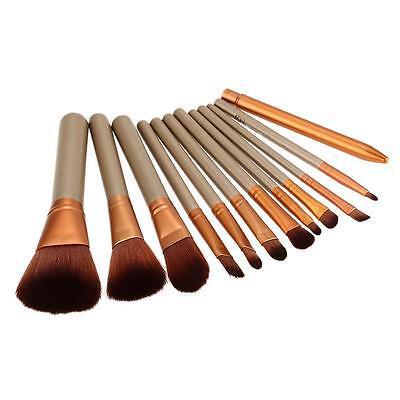 12pcs Kabuki Professional Make up Brush Brushes Set Makeup Foundation Blusher 7