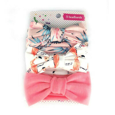 3Pcs Cotton Stretchy Knotted Ear Headbands Hair Band for Baby Girl Newborn New 9