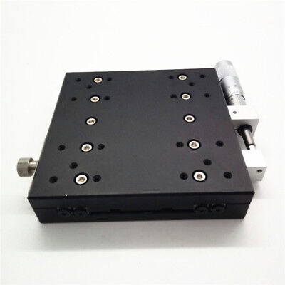 X-Axis Manual Trimming Platform Linear Stage 60mm 0.01mm Sliding Table Bearing 4