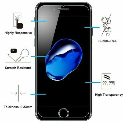 vitre verre trempe film de protection pour iPhone 5/5C/SE/6/6S/7/8/X/XS MAX XR 5