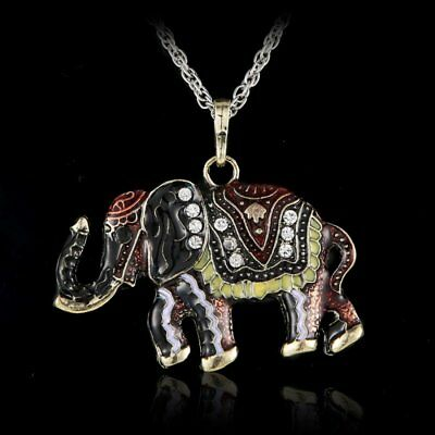 Women Crystal Rhinestone Butterfly Horse Animal Pendant Necklace Chain Jewelry 6
