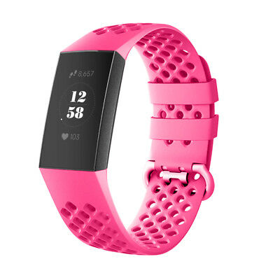 For Fitbit Charge 3 Watch Band Replacement Silicone Breathable Wrist Bracelet 11