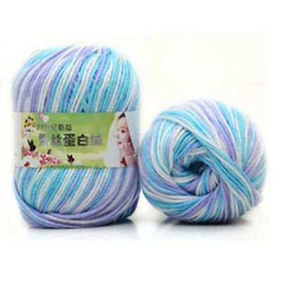 Lot Chunky Yarn Knitting wool Silk Protein cashmere Crochet baby soft cotton 50g 12