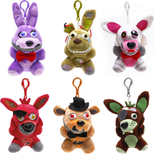 """Five Nights at Freddy's FNAF Horror Game Plush Doll Kids Plushie Toy 4.7"""" 7""""10"""" 7"""