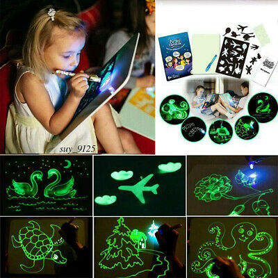 Draw With Light Drawing A3 Board Fun Developing Toy Kids Educational Magic Paint 4