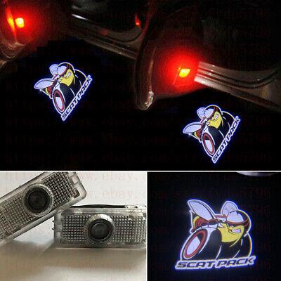 2x Scat Pack Logo Ghost LED Door Lights Laser Projector HD For Dodge Challenger 5