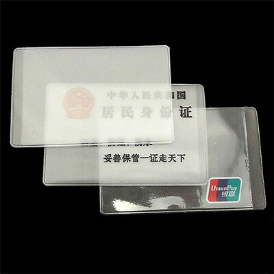 10X PVC Credit Card Holder Protect ID Card Business Card Cover Clear FrosteUULK 6