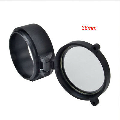 Rifle Scope Quick Flip Spring Up Open Gun Lens Cover See-thru Objective Cap 10