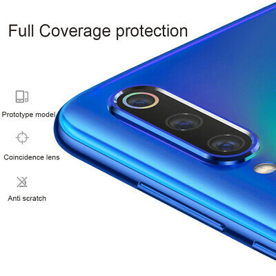 For Xiaomi Redmi Note 7 Camera Lens Protector Case Metal Ring Cover +Glass Film 8