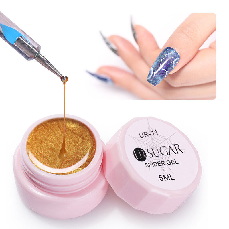 UR SUGAR 5ml Spider Gel Polish Elastic Drawing Soak Off UV Gel Nail Art Manicure
